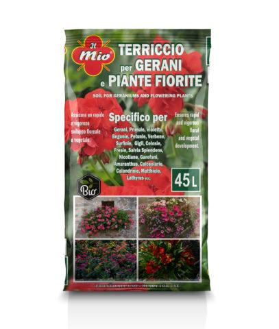 Terriccio specifico per Gerani e piante fiorite Biologico
