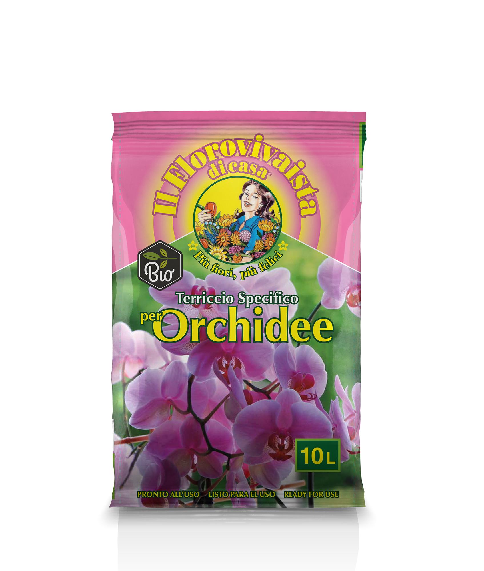 Terriccio specifico per Orchidee Biologico